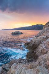 Dramatic rock coast of Costa Brava
