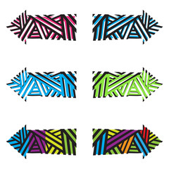Abstract Arrows Set