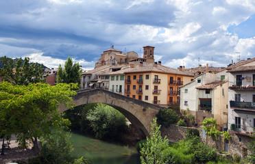 View of Estella.Navarre.Spain.