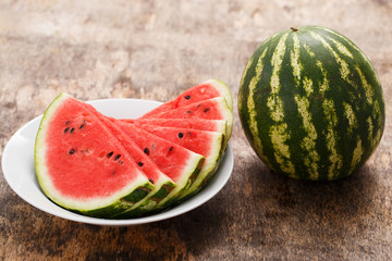 Delicious, juicy watermelon on the table