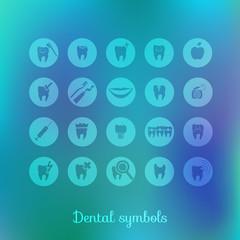 Set of dentistry symbols