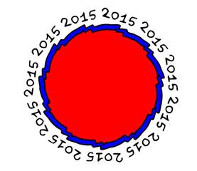 simbolo decorazione anno nuovo su sfondo bianco
