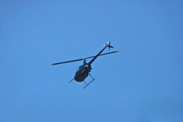 Chopper and clear sky