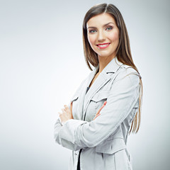 Portrait of smiling business woman.