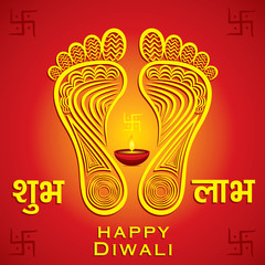 happy diwali festival greeting design