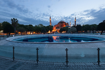 St. Sophia (Hagia Sophia) church, mosque and miseum in Istanbul