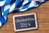 Oktoberfest Hintergrund mit Kreidetafel
