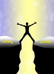 Family Career Concept, the double burden