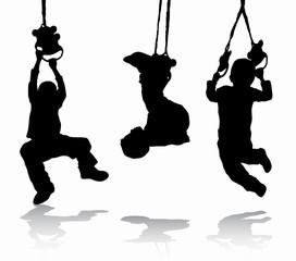 Boy gymnastic silhouette