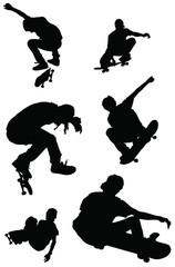 set of skateboarder