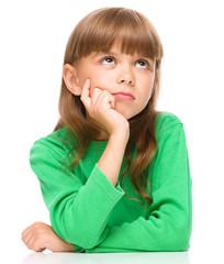 Portrait of a pensive little girl