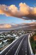 Viaduc au crépuscule à Saint-Paul, La Réunion.