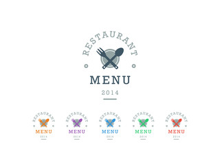 Hipster style restaurant menu badge sign vector