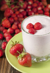 Strawberry-yogurt drink.