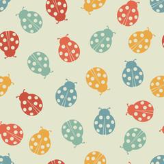 Ladybug seamless pattern.