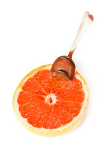 Grapefruit isolated on white
