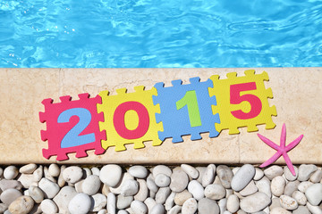 """""""2015"""" by poolside made with jigsaw puzzle pieces"""