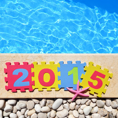 """2015"" by poolside made with jigsaw puzzle pieces"