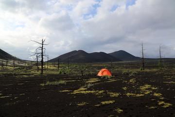 отдых у палатки