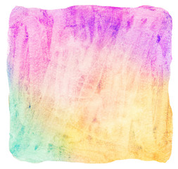 Painted bright colorful watercolor background
