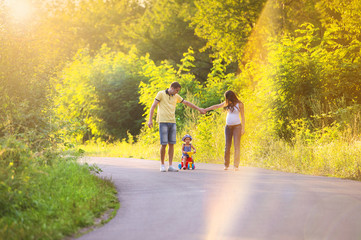 Family summer walk