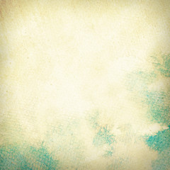 Abstract watercolor background painted paper