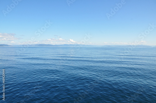 canvas print picture Blauer Himmel, blaues Meer