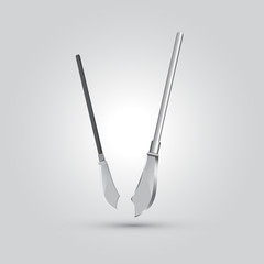 Illustration of spear ,ninja weapon, cartoon vector