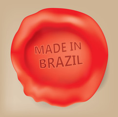 Made in Brazil, Brazilian Seal (Vector Art)