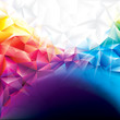 Colorful abstract polygonal design background.