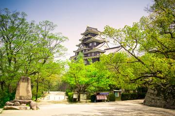 Okayama Castle or Crow Castle in Okayama