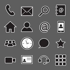 communication sticker icons
