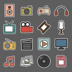 multimedia sticker icon