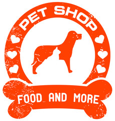 orange petshop stamp