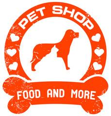 orange petshop stamp