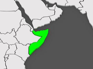 Map of worlds. Somalia