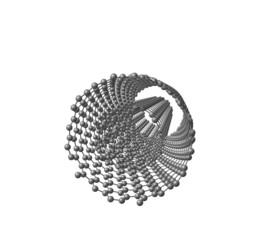 Double-walled carbon nanotube (DWNT) on white