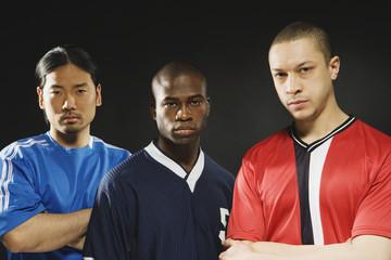 Group of multi-ethnic male athletes