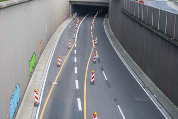 Closed highway for reconstruction