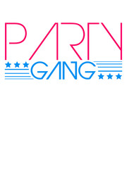 Star Logo Design Party Gang