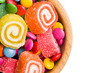top view of colorful candy