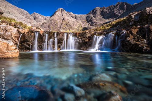 Foto op Plexiglas Watervallen Turquoise pools in Scotland