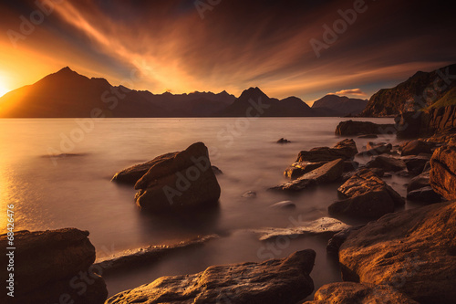 Sunset at the Elgol beach - 68426476