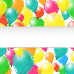 Colorful balloons birhday background