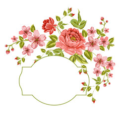 Luxurious color peony background.