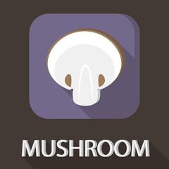 Illustration of mushroom flat icon