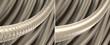 Leinwandbild Motiv Haar-Struktur - strapaziertes und gesundes Haar: 3D-Illustration
