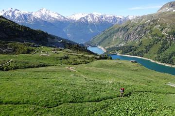 Paysage de Maurienne - barrages (Aussois)