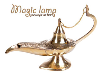 Magic lamp isolated on white