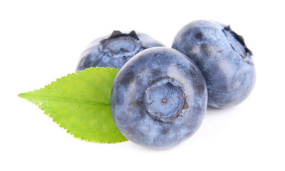 Delicious blueberries isolated on white